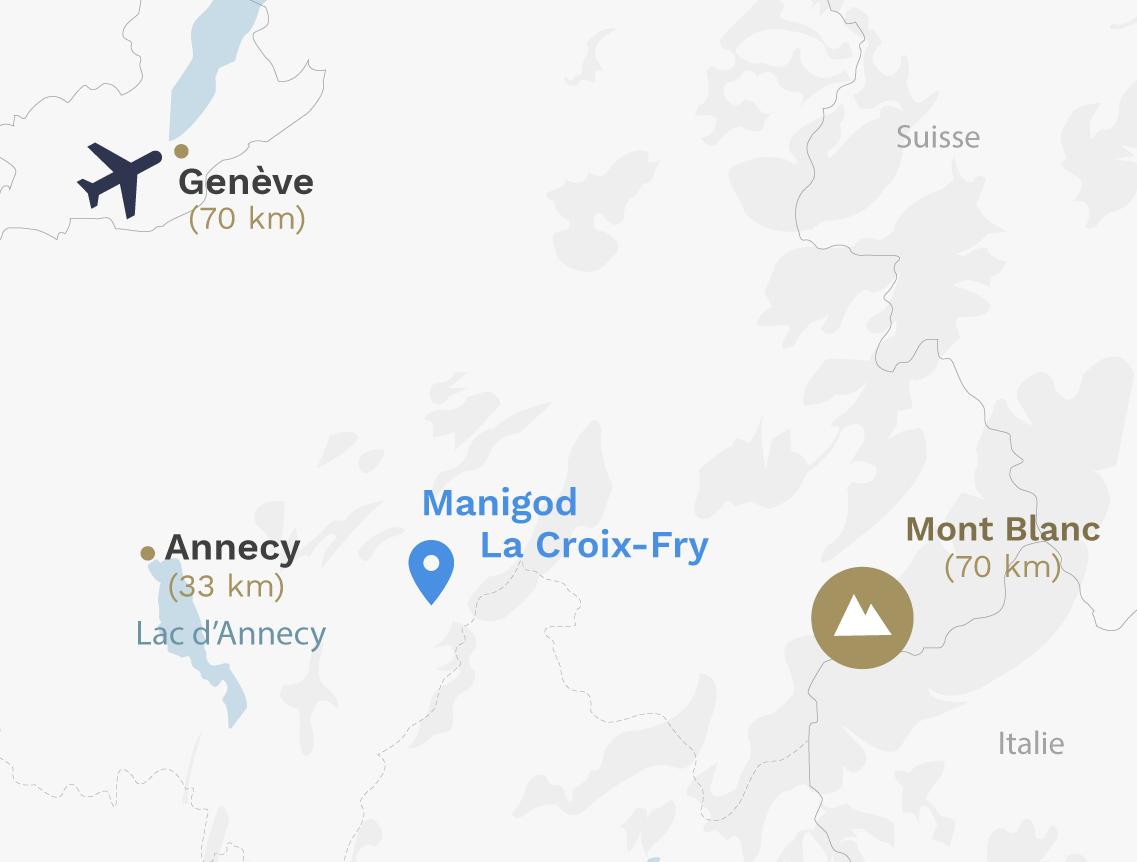 Map Manigod La Croix-Fry