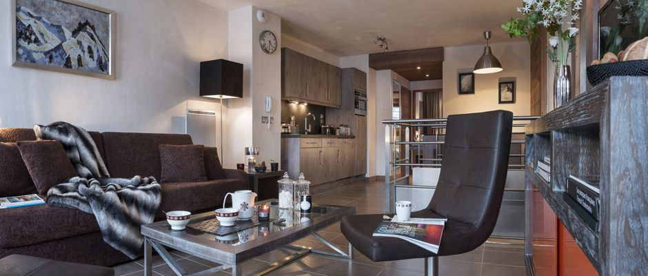 The living room of the apartment - Le Centaure in Flaine