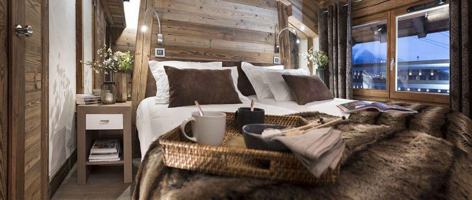 The bedroom of the apartment - Le Cristal de Jade in Chamonix