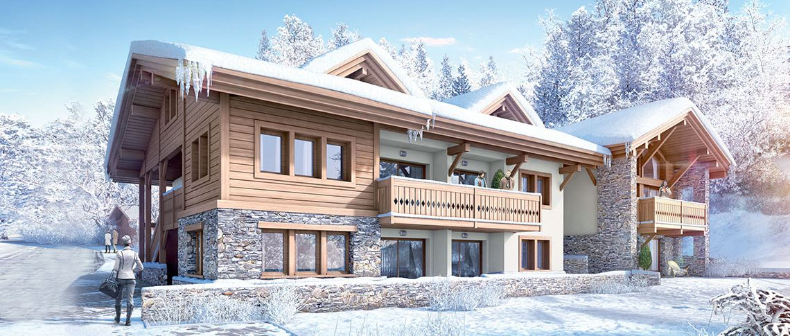 The exterior view of the residence - Chalet Hannah in Chamonix