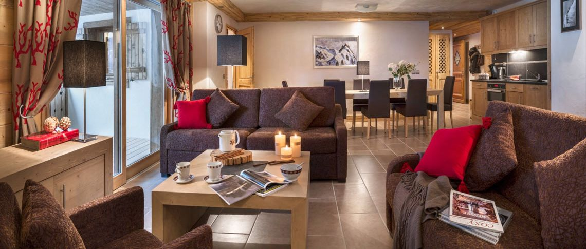 The living room of the apartment - Résidence Anitéa in Valmorel