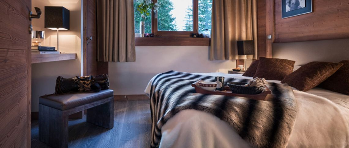 The bedroom of the apartment - Le Centaure in Flaine