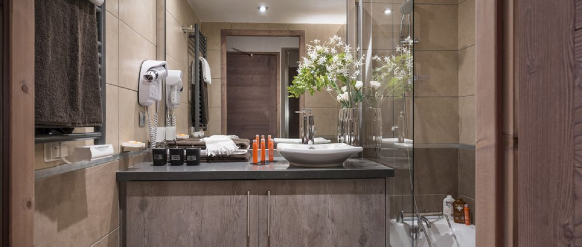 The bathroom of the apartment - Le Centaure in Flaine