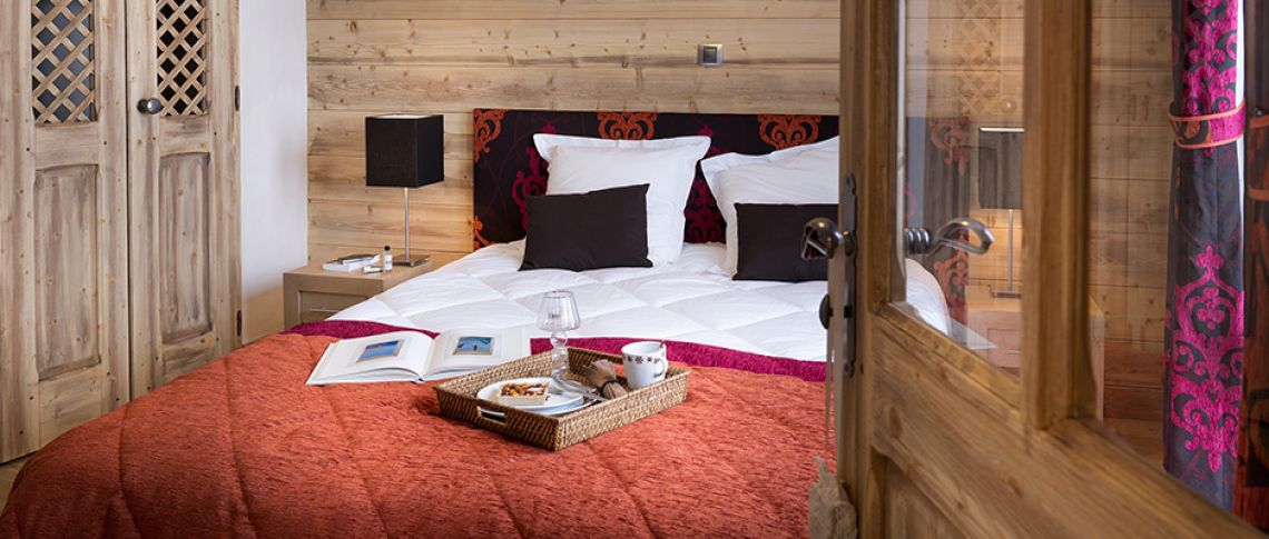 The bedroom of the apartment - Résidence Anitéa in Valmorel
