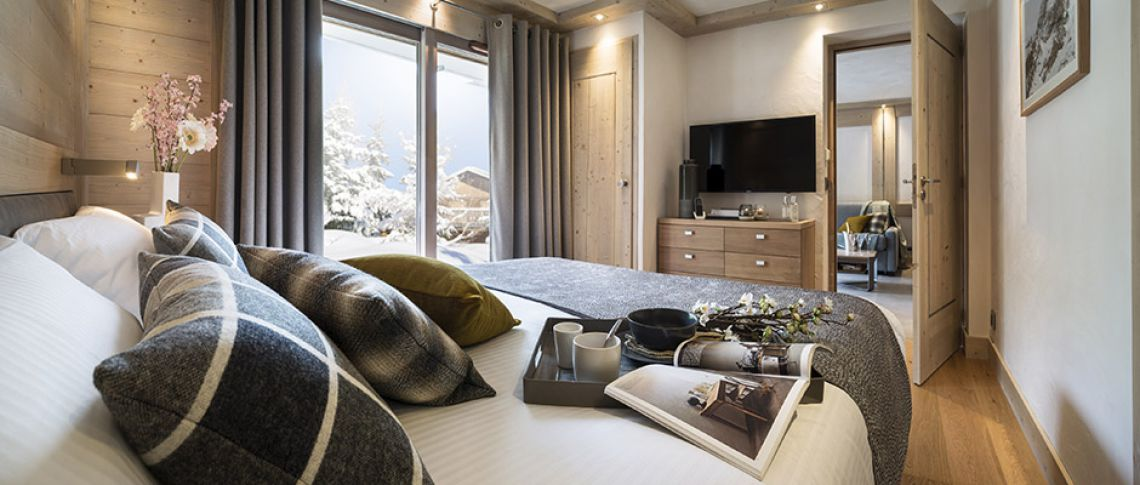 The bedroom of the apartment - Résidence Alexane in Samoëns
