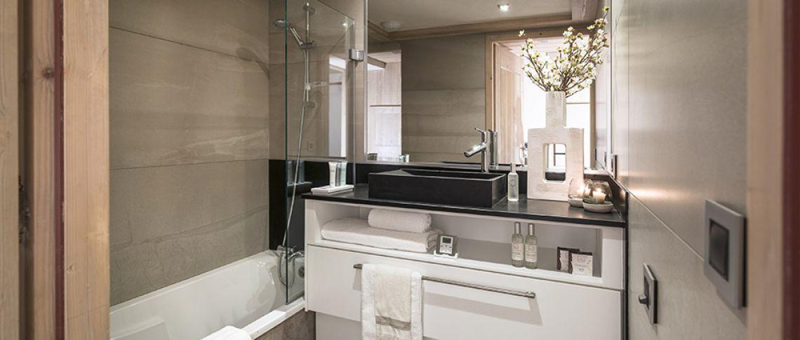 The bathroom of the apartment - Résidence Alexane in Samoëns